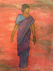 Indian sari lady