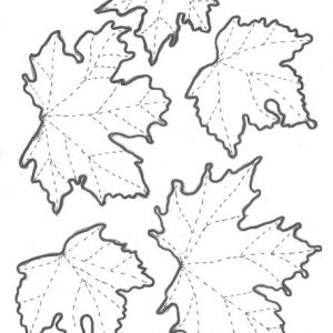 Leaves in Lutradur Templates small