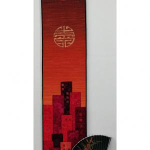 Auspicious Symbols Ombre with Fan